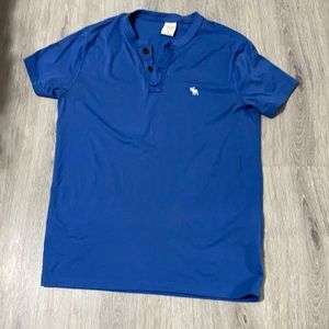 Blue Abercrombie & Fitch Men's Casual Shirt